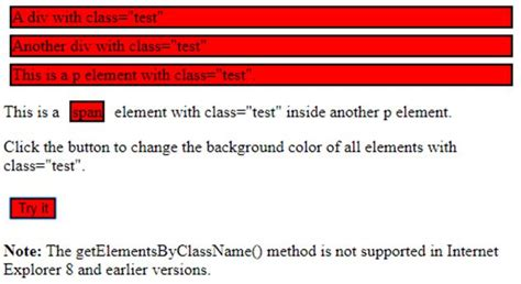 JavaScript getElementsByClassName()   Examples to Implement