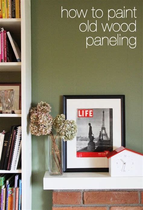 How to Paint Old Wood Paneling - This Week for Dinner