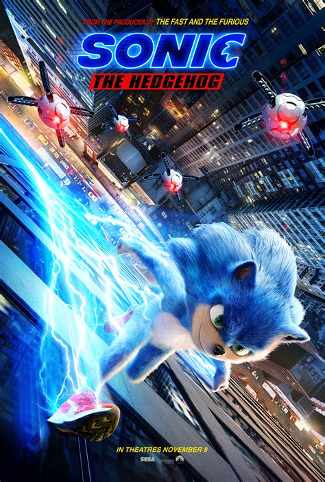 Check Out the Sonic The Hedgehog Trailer and Poster
