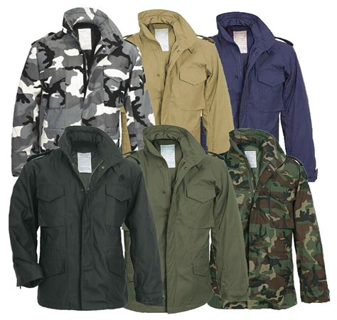 Men's M65 US Field Military Jacket Combat Army Quilted