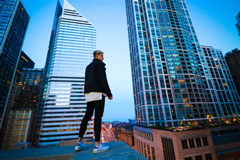 Shoot, photo, downtown, Chicago, Illinois, roof, top