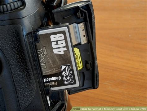 How to Format a Memory Card with a Nikon D700: 6 Steps