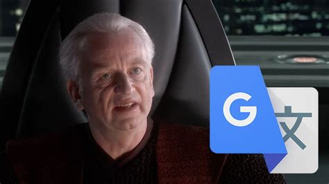 Chancellor Palpatine is the senate but it's dubbed by