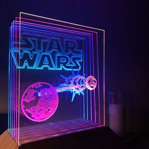 Animated Star Wars CNC LED Lamp Arduino Controlled | CNC