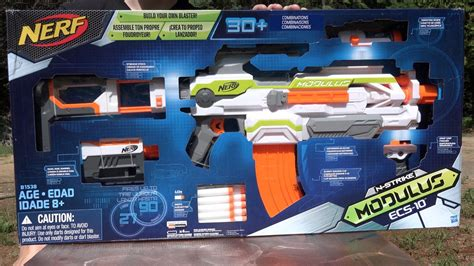 Nerf N-Strike Modulus ECS-10 Unboxing and Review - YouTube