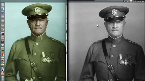 How to colorize old black and white photos with GIMP and G