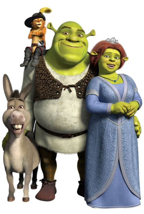 Check out this transparent Shrek, Fiona and friends PNG image