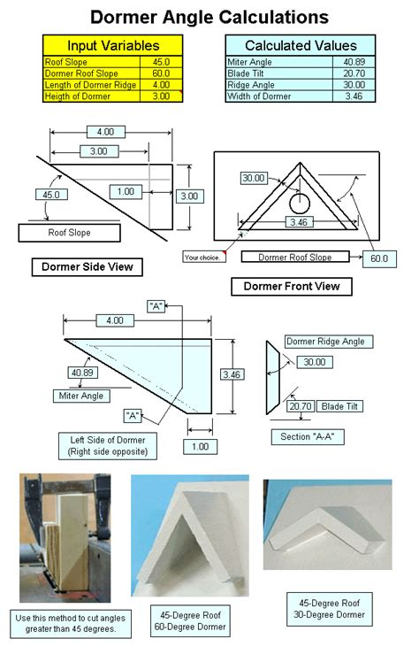 Compound Miter Excel Program: Master Crown Molding Angles