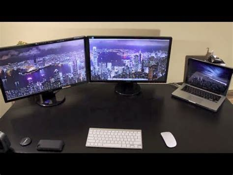 Two External Monitors on a MacBook Pro - YouTube