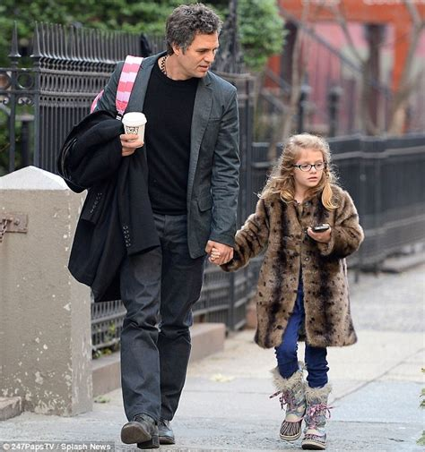 Mark Ruffalo walks his daughter Odette home from school