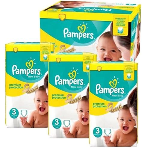 224 Couches pampers procare premium protection taille 3 en