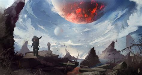 Wallpaper Planets, Futuristic, People, Sky, Painting