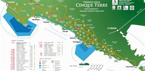 Map of the Cinque Terre www