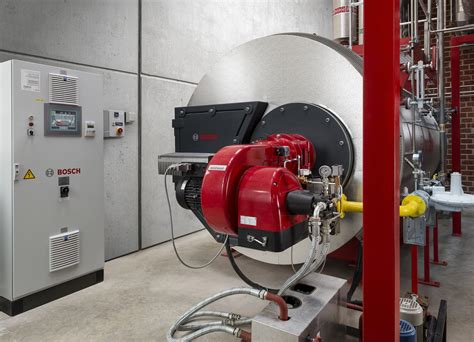Bosch steam boiler at bottling plant with predictive