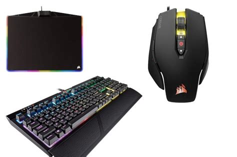 Grab a Corsair gaming keyboard, mouse, and mousepad for